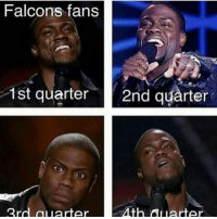 Memes, 🤖, and Quarter: Falcons fans  1st quarter  2nd quarter  Ath Al arter  3rd al uarter Still petty