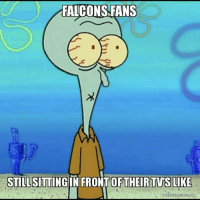 Memes, 🤖, and Falcon-Fans: FALCONS FANS  STILL SITTING  IN ONTOF THEIR TVS LIKE  makeamerme.org