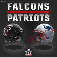 SB 51 is set! The Atlanta Falcons will take on the New England Patriots February 5 in Houston, Texas! Who do y'all think is gonna win?! 🏈🏆🤔 https://t.co/5vb9kjcK0o: FALCONS  PATRIOTS  SUPER BOWL SB 51 is set! The Atlanta Falcons will take on the New England Patriots February 5 in Houston, Texas! Who do y'all think is gonna win?! 🏈🏆🤔 https://t.co/5vb9kjcK0o
