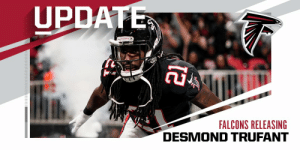 Falcons plan to release CB Desmond Trufant. (via @TomPelissero) https://t.co/L0HBbzaeTo: Falcons plan to release CB Desmond Trufant. (via @TomPelissero) https://t.co/L0HBbzaeTo