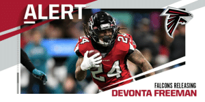 Falcons releasing RB Devonta Freeman. (via @RapSheet) https://t.co/C59NCzT8IR: Falcons releasing RB Devonta Freeman. (via @RapSheet) https://t.co/C59NCzT8IR