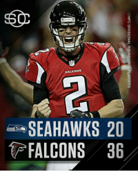 Congrats to the Falcons for heading to the NFC Championship game. Have to admit the offense is amazing and defense is pretty good as well.: FALFONS  SEAHAWKS 20  FALCONS 36  ONFC DIVISIONAL ROUND-NFL PLAYOFFS  06  23  HC  AL  EA  SF Congrats to the Falcons for heading to the NFC Championship game. Have to admit the offense is amazing and defense is pretty good as well.