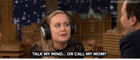 "Fall, Target, and youtube.com:  #FALL  NIGHT  TI  TALK MY MIND... OR CALL MY MOM? <h2><b><a href=""https://www.youtube.com/watch?v=7BMABwrmXYY"" target=""_blank"">Jimmy and Brie Larson take turns guessing what each other are saying in The Whisper Challenge! </a></b></h2>"