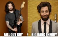 Big Bang Theory: FALL OUT BOY / BIG BANG THEORY  VIA 9GAG.COM
