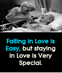 Love, Memes, and 🤖: Falling in Love is  Easy, but staying  in Love is Very  Special.
