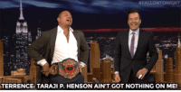 "Bling, Empire, and Taraji P. Henson:  # FALLO NTONIGHT  TERRENCE: TARAJI P.HENSON AIN'T GOT NOTHING ON ME! <p><a href=""http://www.nbc.com/the-tonight-show/video/terrence-howard-gives-jimmy-lucious-lyon-impression-tips/2905026"" target=""_blank"">Jimmy gives Terrence Howard some bling to flaunt on the Empire set!</a><br/></p>"