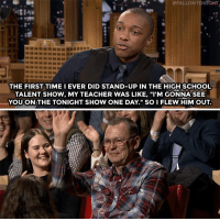 "<p>Comedian Josh Johnson via /r/wholesomememes <a href=""http://ift.tt/2iPspvF"">http://ift.tt/2iPspvF</a></p>:  # FALLON TO  NrGHT  4284  THE FIRST TIME I EVER DID STAND-UP IN THE HIGH SCHOOL  TALENT SHOW, MY TEACHER WAS LIKE, ""I'M GONNA SEE  YOU ON THE TONIGHT SHOW ONE DAY."" SO I FLEW HIM OUT. <p>Comedian Josh Johnson via /r/wholesomememes <a href=""http://ift.tt/2iPspvF"">http://ift.tt/2iPspvF</a></p>"