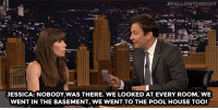 """<p><a href=""""https://www.youtube.com/watch?v=jPRS9oqsGbQ"""" target=""""_blank"""">Jessica Biel, Justin Timberlake and Jimmy ended up breaking into a house together!</a><br/></p>:  #FALLONTO NIGHT  JESSICA: NOBODY WAS THERE. WE LOOKED AT EVERY ROOM WE  WENT IN THE BASEMENT, WE WENT TO THE POOL HOUSE TOO! <p><a href=""""https://www.youtube.com/watch?v=jPRS9oqsGbQ"""" target=""""_blank"""">Jessica Biel, Justin Timberlake and Jimmy ended up breaking into a house together!</a><br/></p>"""