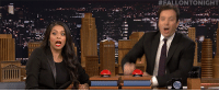 <p>Jimmy and Lilly Singh go head-to-head in a game of fast family feud!</p>:  #FALLONTO NIGHT  r. <p>Jimmy and Lilly Singh go head-to-head in a game of fast family feud!</p>