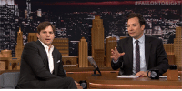 "Target, youtube.com, and How To: <p><a href=""https://www.youtube.com/watch?v=wfMi1Ij8KB0"" target=""_blank"">Ashton Kutcher has a major wardrobe malfunction when showing Jimmy how to sit in a car seat.</a></p>"