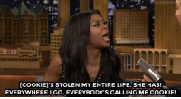 """Life, Taraji P. Henson, and Target: FALLONTONIG  [COOKIEI'S STOLEN MY ENTIRE LIFE. SHE HAS  EVERYWHERE I GO, EVERYBODY'S CALLING ME COOKIE! <p><a href=""""http://www.nbc.com/the-tonight-show/video/taraji-p-henson-and-terrence-howard-got-competitive-on-lip-sync-battle/2892742"""" target=""""_blank"""">Taraji P. Henson always gets called Cookie.</a></p>"""