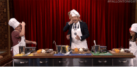 """Target, youtube.com, and Watch: <p><a href=""""https://www.youtube.com/watch?v=2B4EveiFry0"""" target=""""_blank"""">There is no better way to celebrate #NationalFoodDay than throwing it back to Jimmy cooking with Gordan Ramsay!</a></p>"""