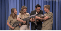 "<p><a href=""https://www.youtube.com/watch?v=j1v2A5pyGlY"" target=""_blank"">Robert Irwin lets Jimmy get up close in personal with a herd of African pygmy goats, the largest rodent in the world and an American alligator!</a></p>: <p><a href=""https://www.youtube.com/watch?v=j1v2A5pyGlY"" target=""_blank"">Robert Irwin lets Jimmy get up close in personal with a herd of African pygmy goats, the largest rodent in the world and an American alligator!</a></p>"
