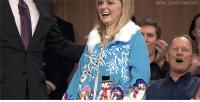 """Christmas, Target, and youtube.com: <p>It&rsquo;s the 12 Days of Christmas Sweaters, and Jimmy <a href=""""https://www.youtube.com/watch?v=w-3ZgJtQb4U"""" target=""""_blank"""">surprises another fan with a new holiday sweater</a>!</p>"""