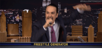 "Rap, Target, and youtube.com:  #FALLONTONIGHT  FREESTYLE GENERATOR <h2><b><a href=""https://youtu.be/w31jboLYcH4"" target=""_blank"">Lin-Manuel Miranda and Tariq from The Roots play a new game called 'Wheel of Freestyle'! </a></b></h2><p>  Lin-Manuel Miranda (star of Broadway&rsquo;s &ldquo;Hamilton&rdquo;) and Tariq from The Roots are given three random words they&rsquo;ve never seen before and have to work them into a freestyle rap.  <br/></p><figure class=""tmblr-embed tmblr-full"" data-provider=""youtube"" data-orig-width=""540"" data-orig-height=""304"" data-url=""https%3A%2F%2Fyoutu.be%2Fw31jboLYcH4""><iframe width=""540"" height=""304"" id=""youtube_iframe"" src=""https://www.youtube.com/embed/w31jboLYcH4?feature=oembed&amp;enablejsapi=1&amp;origin=https://safe.txmblr.com&amp;wmode=opaque"" frameborder=""0""></iframe></figure>"