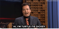 """<p><a href=""""https://www.youtube.com/watch?v=LjqiA9mwYyc&amp;list=UU8-Th83bH_thdKZDJCrn88g&amp;index=2"""" target=""""_blank"""">Jimmy&rsquo;s new turtle-tie dickey from Melissa McCarthy gives him a whole new persona&hellip;</a><br/></p>:  #FALLONTONIGHT  HI, I'M TURTLE-TIE DICKEY. <p><a href=""""https://www.youtube.com/watch?v=LjqiA9mwYyc&amp;list=UU8-Th83bH_thdKZDJCrn88g&amp;index=2"""" target=""""_blank"""">Jimmy&rsquo;s new turtle-tie dickey from Melissa McCarthy gives him a whole new persona&hellip;</a><br/></p>"""