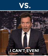 """Gif, Head, and Target:  #FALLONTONIGHT  I CAN'TEVEN! <h2><b>SEMI-FINALES!!!</b></h2><p>These two GIFs are the first to face-off in the semi-finales of the <b><a href=""""http://fallontonight.tumblr.com/post/127481560657/this-week-8-reaction-gifs-are-going-head-to-head"""" target=""""_blank"""">FalPal Favorite FallonTonight Reaction GIF Tournament!</a></b></p><p><b>Reply below</b> with which GIF you want to win. Voting ends at 10pm ET.</p><h2>Which GIF do you want to see advance to the next round, """"Dance"""" or """"Can't Even""""? </h2>"""
