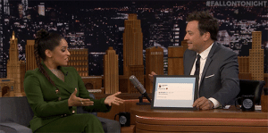 Jimmy and Lilly Singh discuss the tweet that predicted her talk show, A Little Late with Lilly Singh. : FALLONTONIGHT Jimmy and Lilly Singh discuss the tweet that predicted her talk show, A Little Late with Lilly Singh.