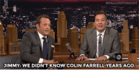 """Target, True, and youtube.com:  #FALLONTONIGHT  JIMMY: WE DIDN'T KNOW COLIN FARRELL YEARS AGO <p><a href=""""http://www.nbc.com/the-tonight-show/segments/135531"""" target=""""_blank"""">Jimmy and Vince Vaughn make sure to cover their tracks after playing &ldquo;True Confessions&rdquo; with Colin Farrell!</a><br/></p><p>[ <a href=""""https://www.youtube.com/watch?v=Mdt4CFhYANw&amp;list=UU8-Th83bH_thdKZDJCrn88g&amp;index=2"""" target=""""_blank"""">Part 2</a> ]</p><p>BONUS: True Confessions got pretty real:</p><figure class=""""tmblr-embed tmblr-full"""" data-provider=""""youtube"""" data-orig-width=""""540"""" data-orig-height=""""304"""" data-url=""""https%3A%2F%2Fwww.youtube.com%2Fwatch%3Fv%3DLWS5bz2LGuE%26index%3D13%26list%3DUU8-Th83bH_thdKZDJCrn88g""""><iframe width=""""540"""" height=""""304"""" src=""""https://www.youtube.com/embed/LWS5bz2LGuE?feature=oembed"""" frameborder=""""0"""" allowfullscreen=""""""""></iframe></figure>"""