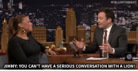 "Queen Latifah, Target, and youtube.com:  #FALLONTONIGHT  JIMMY: YOU CAN'T HAVE A SERIOUS CONVERSATION WITHA LION! <p><a href=""https://www.youtube.com/watch?v=KUBsXype5ws&amp;index=2&amp;list=UU8-Th83bH_thdKZDJCrn88g"" target=""_blank"">Queen Latifah can&rsquo;t take David Alan Grier seriously when he&rsquo;s wearing a lion suit!</a><br/></p>"