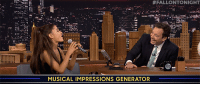 "Ariana Grande, Britney Spears, and Target:  #FALLONTONIGHT  MUSICAL IMPRESSIONS GENERATOR <p><a href=""https://www.youtube.com/watch?v=ss9ygQqqL2Q&amp;list=UU8-Th83bH_thdKZDJCrn88g&amp;index=5"" target=""_blank"">Ariana Grande's impressions of Britney Spears, Christina Aguilera and Celine Dion are on POINT.</a></p>"