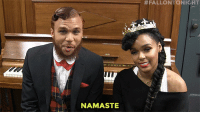 "Friends, Jidenna, and Namaste:  #FALLONTONIGHT  NAMASTE <p><b>WEB EXCLUSIVE: </b></p><p><a href=""https://www.youtube.com/watch?v=n7luEehCksA&amp;index=2&amp;list=UU8-Th83bH_thdKZDJCrn88g"" target=""_blank"">Janelle Monae and Jidenna describe how doing yoga with friends and the city of Atlanta inspired them to write &ldquo;Yoga&rdquo;!</a><br/></p>"