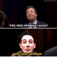 """Head, Ken, and Target:  #FALLONTONIGHT  PEE-WEE HERMAN LAUGH*  PEE-WEE HERMAN! <p><a href=""""https://www.youtube.com/watch?v=W25pg5RO6Pw&amp;index=4&amp;list=UU8-Th83bH_thdKZDJCrn88g"""" target=""""_blank"""">Jimmy, Kerry Washington, Ken Jeong, and Higgins go head-to-head in a &ldquo;Famous Face-Off&rdquo;</a>!<br/></p>"""