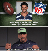 "<h2><b><a href=""https://youtu.be/LtN_MYHuaa0"" target=""_blank"">NFL stars read their own Tonight Show Superlatives!</a></b>  </h2><figure class=""tmblr-embed tmblr-full"" data-provider=""youtube"" data-orig-width=""540"" data-orig-height=""304"" data-url=""https%3A%2F%2Fyoutu.be%2FLtN_MYHuaa0""><iframe width=""540"" height=""304"" id=""youtube_iframe"" src=""https://www.youtube.com/embed/LtN_MYHuaa0?feature=oembed&amp;enablejsapi=1&amp;origin=https://safe.txmblr.com&amp;wmode=opaque"" frameborder=""0"" allowfullscreen=""""></iframe></figure>:  #FALLONTONIGHT  RusselI Wilson  Most Likely To Be The Love Child of  Mario Lopez And Carlton Banks  IT'S NOT UNUSUAL TO BE LOVED BY ANYONE <h2><b><a href=""https://youtu.be/LtN_MYHuaa0"" target=""_blank"">NFL stars read their own Tonight Show Superlatives!</a></b>  </h2><figure class=""tmblr-embed tmblr-full"" data-provider=""youtube"" data-orig-width=""540"" data-orig-height=""304"" data-url=""https%3A%2F%2Fyoutu.be%2FLtN_MYHuaa0""><iframe width=""540"" height=""304"" id=""youtube_iframe"" src=""https://www.youtube.com/embed/LtN_MYHuaa0?feature=oembed&amp;enablejsapi=1&amp;origin=https://safe.txmblr.com&amp;wmode=opaque"" frameborder=""0"" allowfullscreen=""""></iframe></figure>"