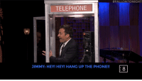 "Miley Cyrus, Phone, and Target:  #FALLONTONIGHT  TELEPHONE  JIMMY: HEY! HEY! HANG UP THE PHONE!!  8 <h2><b><a href=""https://www.youtube.com/watch?v=N0mTsjpYhB8"" target=""_blank"">Jimmy and Miley Cyrus face off in Phone Booth! </a></b></h2>"