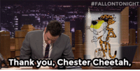 "Frozen, Target, and youtube.com:  #FALLONTONIGHT  Thank you,Chester Cheetah, <p><a href=""https://www.youtube.com/watch?v=HAFT0ggTFn8&amp;feature=youtu.be"" target=""_blank""><strong>Thank You Notes: Mardi Gras, Frozen Margaritas, Kraft Singles </strong></a></p>"
