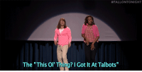 """<p><b><a href=""""https://www.youtube.com/watch?v=_qWuOtP9eZE&amp;list=UU8-Th83bH_thdKZDJCrn88g"""" target=""""_blank"""">Jimmy and First Lady Michelle Obama have all of the dance moves you'll need this weekend with The Evolution of Mom Dancing 2!</a></b></p>:  #FALLONTONIGHT  The """"This Ol Thing? I Got It At Talbots"""" <p><b><a href=""""https://www.youtube.com/watch?v=_qWuOtP9eZE&amp;list=UU8-Th83bH_thdKZDJCrn88g"""" target=""""_blank"""">Jimmy and First Lady Michelle Obama have all of the dance moves you'll need this weekend with The Evolution of Mom Dancing 2!</a></b></p>"""