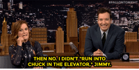 """Amy Poehler, Run, and Target:  #FALLONTONIGHT  . THEN NOT DIDNT RUN INTO  CHUCK IN THE ELEVATOR, 3IMMY <p><b>ICYMI: </b><a href=""""https://www.youtube.com/watch?v=Nl2PMQBaVSQ"""" target=""""_blank"""">Jimmy and Amy Poehler reminisce about working in 30 Rock together during commercial break!</a></p>"""