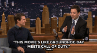"""Movies, Target, and Tom Cruise: :#FALLONTONIGHT  """"THIS MOVIE'S LIKE GROUNDHOG DAY  MEETS CALL OF DUTY.""""  JIMMY <p>Tom Cruise and Jimmy <a href=""""http://www.nbc.com/the-tonight-show/segments/6926"""" target=""""_blank"""">discuss Tom&rsquo;s new film Edge of Tomorrow</a>!</p>"""