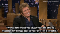 """Ass, Target, and Http:  #FALLONTONIGHT  """"We want to make you laugh your ass off and  occasionally bring a tear to your eye.I'm a sweetie."""" <p><strong>-Denis Leary, <a href=""""http://www.nbc.com/the-tonight-show/segments/3746"""" title='on his new show """"Sirens""""' target=""""_blank"""">on his new show &ldquo;Sirens&rdquo;</a></strong></p>"""
