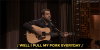 """Head, Target, and youtube.com:  #FALLONTONIGHT  WELL I PULL MY PORK EVERYDAY <h2><b><a href=""""https://www.youtube.com/watch?v=NuqrPlpx2FI"""" target=""""_blank"""">Two audience members go head-to-head in Battle of the Instant Songwriters!</a></b></h2>"""