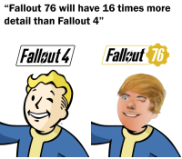 """""""Fallout 76 will have 16 times more  detail than Fallout 4""""  Fallout4 Fallout  76  TM"""