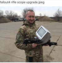 Memes, 🤖, and Rifle Scopes: fallout4 rifle scope upgrade.jpeg ~MIRV