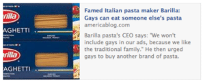 "kakashidori:  please buy another pasta no im gonna buy your pasta im gonna buy it and im gonna shove it up my boyfriends ass : Famed Italian pasta maker Barilla:  Gays can eat someone else's pasta  americablog.com  illa  GHETTI  Barilla pasta's CEO says: ""We won't  include gays in our ads, because we like  the traditional family."" He then urged  gays to buy another brand of pasta.  rilla  AGHETTI kakashidori:  please buy another pasta no im gonna buy your pasta im gonna buy it and im gonna shove it up my boyfriends ass"