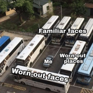 Meirl: Familiar faceS  Worn out  places  Me  WornFout faces Meirl