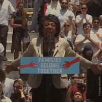 Respect, Fearless, and Together: FAMILIES  BELONG  TOGETHER Fearless! #Respect #MrsMaxineWaters