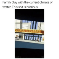 Family, Family Guy, and Friends: Family Guy with the current climate of  twitter. This shit is hilarious  QUAHOG THEATERS Im 💀💀💀 ➡️ TAG 5 FRIENDS ➡️ TURN ON POST NOTIFICATIONS