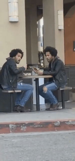 Famous actor Donald Glover eating lunch with his favorite rapper, Childish Gambino (2019): Famous actor Donald Glover eating lunch with his favorite rapper, Childish Gambino (2019)