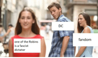 Target, Tumblr, and Blog: fandom  one of the Robins  is a fascist  dictator dicktofen:  last one I swear