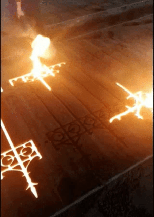 fangirltothefullest: princecharmingtobe:  bemusedlybespectacled: I realize this is a cast iron gate but I'm choosing to believe it's a magic protection ritual It IS a magic protection ritual, and it summons an iron gate to protect you from intruders.   You have to enchant the iron so it protects against the fae. : fangirltothefullest: princecharmingtobe:  bemusedlybespectacled: I realize this is a cast iron gate but I'm choosing to believe it's a magic protection ritual It IS a magic protection ritual, and it summons an iron gate to protect you from intruders.   You have to enchant the iron so it protects against the fae.