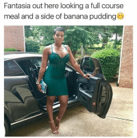 Memes, Banana, and 🤖: Fantasia out here looking a full course  meal and a side of banana pudding