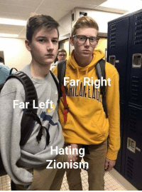 Moment, Right, and  Left: Far Right  Far Left  Hating  Zionis