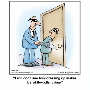 """Laughingstock: FARCUS  LaughingStock Licensing Inc  """"I still don't see how dressing up makes  it a white-collar crime."""""""