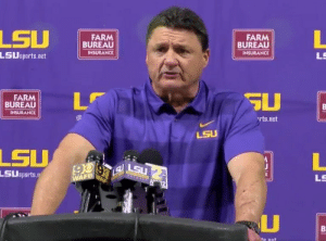 Ed Orgeron looks like Fred Flintstone's brother, Ed Flintstone. https://t.co/0s3oU9dgiZ: FARM  BUREAU  INSURANCE  FARM  BUREAU  INSURANCE  LSUsports.net  FARM  BUREAU  INSURANCE  rts.net  LSU  LSU  LSUsports  LS Ed Orgeron looks like Fred Flintstone's brother, Ed Flintstone. https://t.co/0s3oU9dgiZ