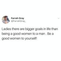GO FOLLOW 👉 @FarrahGray_ He is one of the most inspirational guys on Instagram: Farrah Gray  @FarrahGray.  Ladies there are bigger goals in life than  being a good women to a man. Be a  good women to yourself! GO FOLLOW 👉 @FarrahGray_ He is one of the most inspirational guys on Instagram