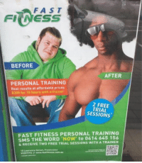 <h3>Entrenamiento para convertirte de gordo patético blancucho a afronigga petao</h3>: FAST  FI NESS  BEFORE  AFTER  PERSONAL TRAINING  Reat results at affordable prices  $300 for 15 hours with a trainer  2 FREE  TRIAL  SESSIONS  FAST FITNESS PERSONAL TRAINING  SMS THE WORD 'NOW' to 0414 645 156  & RECEIVE TWO FREE TRIAL SESSIONS WITH A TRAINER  15 Lawrence Street, Freshwater  99397793 // www.fastfitness.com.au <h3>Entrenamiento para convertirte de gordo patético blancucho a afronigga petao</h3>